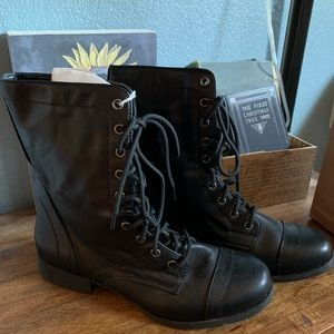 Brash Black Combat Boots